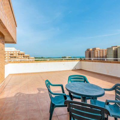 Terraza con Vistas de Vacaciones Oromarina Torremar